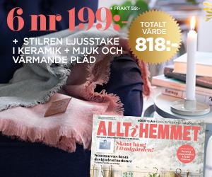 Allt i Hemmet - 6 nr + ljusstake + pläd för endast 199:- Rabatt / Återbäring