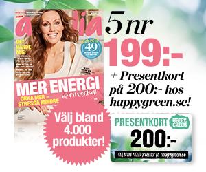 5 nr amelia av amelia + 200 kr i presentkort hos Happygreen.se Rabatt / Återbäring