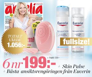 Amelia - 6 nr + Skin Pulse + ansiktsrengöring från Eucerin för endast 199:- Rabatt / Återbäring
