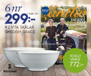 Lantliv - 6 nr + 2 st klassiska skålar från Swedish Grace för endast 299 kr Återbäring