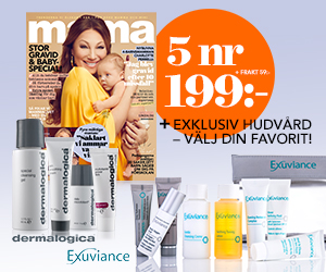 5 nr mama + välj lyxig hudvård från Exuviance eller Dermalogica för endast 199 kr Rabatt / Återbäring