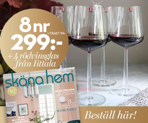 Sköna Hem - välj mellan 8 eller 5 nr +  Få klassiska rödvinsglas från iittalas serie Essence Återbäring