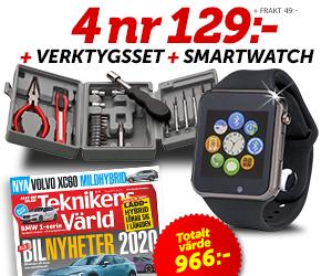 Teknikens Värld - 4 nr + smartwatch + verktygsset för endast 129:- Rabatt / Återbäring