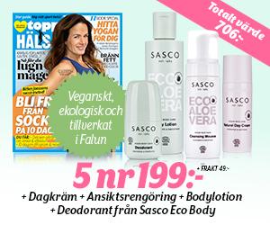 5 nr ToppHälsa + produkter från Sasco för endast 199 kr Rabatt / Återbäring