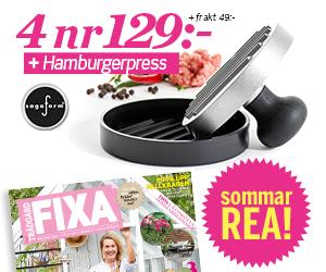 Allt om Trädgård FIXA - 4 nr + hamburgarpress från Sagaform för endast 129 kr Rabatt / Återbäring
