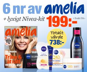6 nr amelia + lyxigt NIVEA-kit för endast 199:- Rabatt / Återbäring