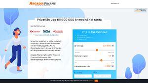 Arcadia Finans Rabatt / Återbäring