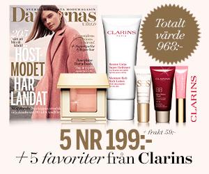 Damernas Värld - 5 nr + lyxigt kit från Clarins för endast 199 kr Återbäring