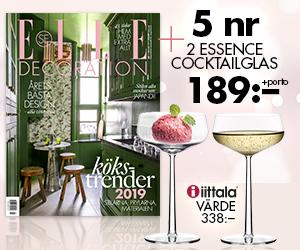 5 nr Elle Decoration + 2 cocktailglas från Iittala för endast 189 kr! Rabatt / Återbäring