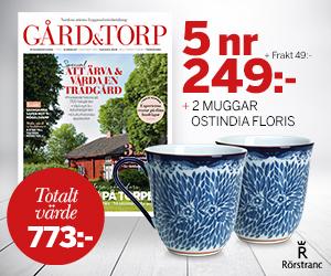 5 nr Gård & Torp + 2 muggar ur serien Ostindia Floris för endast 249:- Rabatt / Återbäring