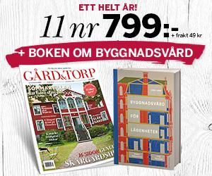 11 nr Gård & Torp + boken om byggnadsvård för endast 799:- Rabatt / Återbäring