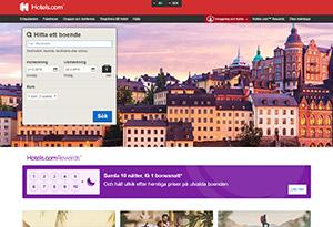 Hotels.com Rabatt / Återbäring