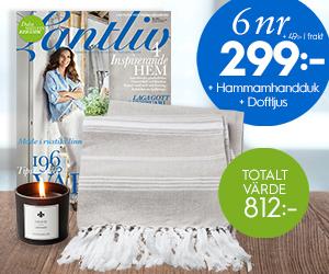 6 nr Lantliv + härlig hammamhandduk & doftljus för endast 299:- Rabatt / Återbäring