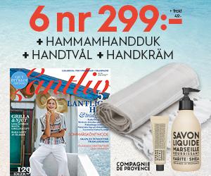 Lantliv - 6 nr + tvål & handkräm från Savon de Marseille & en härlig hamamhandduk för endast 299:- Rabatt / Återbäring