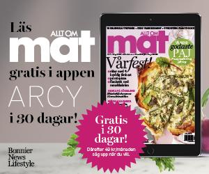 30 dagars kostnadsfri läsning av Allt om Mat i ARCY Rabatt Cashback