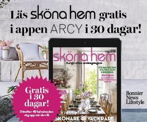 30 dagars kostnadsfri läsning av Sköna hem i ARCY! Återbäring