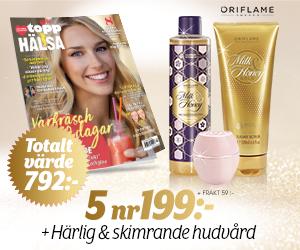 5 nr av Topphälsa för endast 199 kr + härlig & skimrande hudvård Återbäring