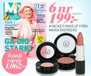 6 nr av M-magasin för endast 199 kr + vacker makeup från Maria Åkerberg Återbäring