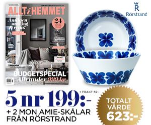 Allt i Hemmet - 5 nr + två Mon Amie-skålar från Rörstrand Rabatt / Återbäring
