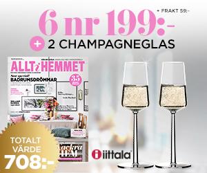 Allt i hemmet - 6 nr + 2 champagneglas från serien Essence, iittala Rabatt / Återbäring