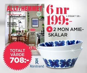 Allt i hemmet - 6 nr + 2 Mon Amie-skålar 30 cl Rabatt / Återbäring