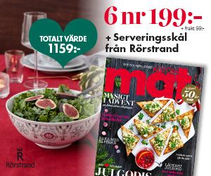 Tidningspremie: Allt om Mat - 6 nr + Serveringsskål Swedish Grace Winter från Rörstrand