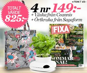 Allt om Trädgård - 4 nr + Väska från Ceannis och en örtkruka Återbäring