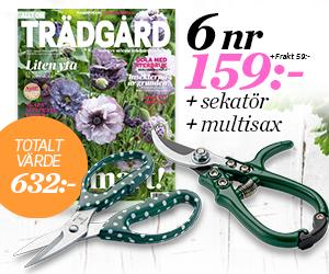 Allt om Trädgård - 6 nr + Sekatör & multisax Rabatt / Återbäring