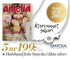 Amelia - 5 nr + halsband från Smycka i äkta silver Återbäring