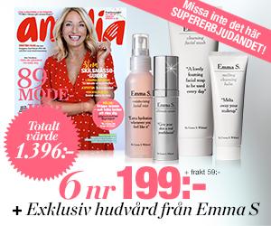 Amelia - 6 nr + hudvård från Emma S. Rabatt / Återbäring