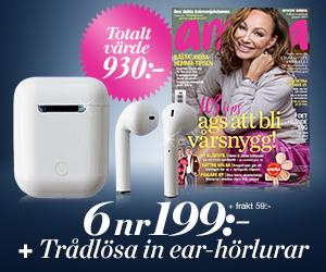 amelia - 6 nr + trådlösa in ear-hörlurar Rabatt / Återbäring