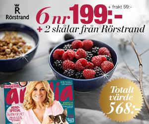 Tidningspremie: Amelia - 6 nr + två skålar från Rörstrand
