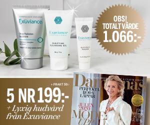 Damernas värld - 5 nr + lyxig hudvård från Exuviance Återbäring