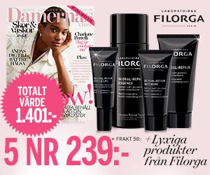 Damernas Värld - 5 nr + lyxiga produkter från Filorga Rabatt / Återbäring