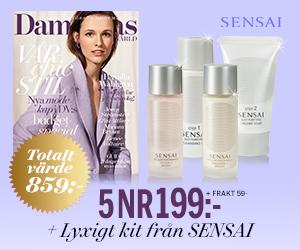 Damernas Värld - 5 nr + lyxigt kit från Sensai Rabatt / Återbäring
