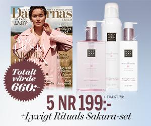Damernas Värld - 5 nr + lyxigt Rituals Sakura-set Rabatt / Återbäring