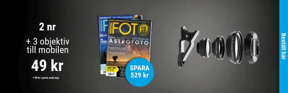 Digital FOTO  + 3 objektiv till mobilen Rabatt / Återbäring