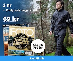 Digital FOTO + Outpack regnställ Rabatt / Återbäring