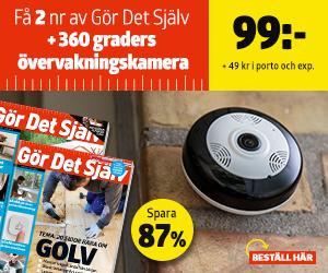 Tidningspremie: Gör Det Själv + 360-grader övervakningskamera