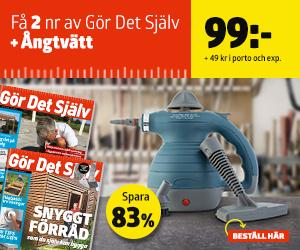 Gör Det Själv + Ångtvätt Rabatt / Återbäring
