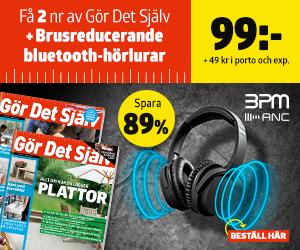 Tidningspremie: Gör Det Själv + Brusreducerande bluetooth-hörlurar