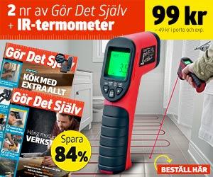 Gör Det Själv + Infraröd termometer med laser Rabatt / Återbäring