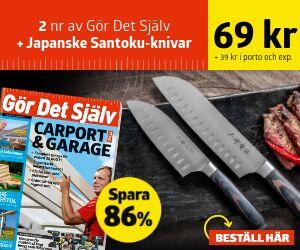 Gör Det Själv  + Japanske Santoku-knivar Rabatt / Återbäring