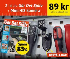 Gör Det Själv + Mini-HD-kamera Rabatt / Återbäring