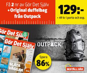 Tidningspremie: Gör Det Själv + Original duffelbag från Outpack