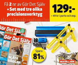 Tidningspremie: Gör Det Själv + Set med tre olika precisionsverktyg