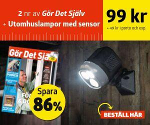 Gör Det Själv + Utomhuslampor med sensor och batteri Rabatt / Återbäring