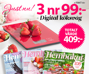 Hembakat - 3 nr + Köksvåg Återbäring