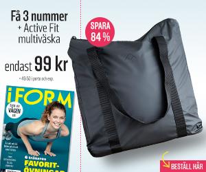 Tidningspremie: I FORM + Active Fit multiväska