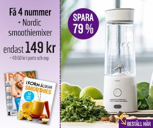 I FORM + Nordic smoothiemixer Återbäring